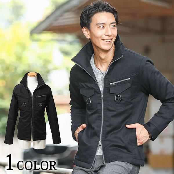ミリタリーをベースとした男らしさ感じる中綿ジャケット デポー スタンドカラージップデザイン中綿ジャケット 訳あり商品