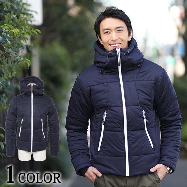 ボリュームネックデザイン中綿ジャケット