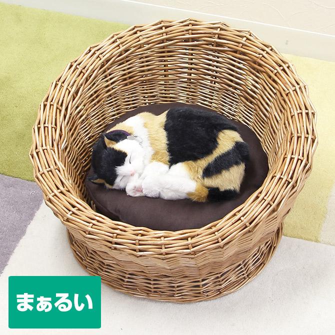 籐製 キャットハウス ラタン ペット用 猫ちぐら ちぐら ベッド 猫用品 猫ベッド