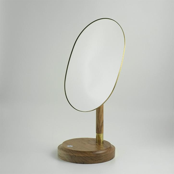 【 送料無料 】 CLASKA クラスカ LOULOU テーブルミラー 鏡 ミラー 卓上 デスク スタンド 真鍮 角度調節可能 化粧鏡 楕円ミラー 日本製 シンプル レトロ インテリア おしゃれ ギフト プレゼント 贈り物