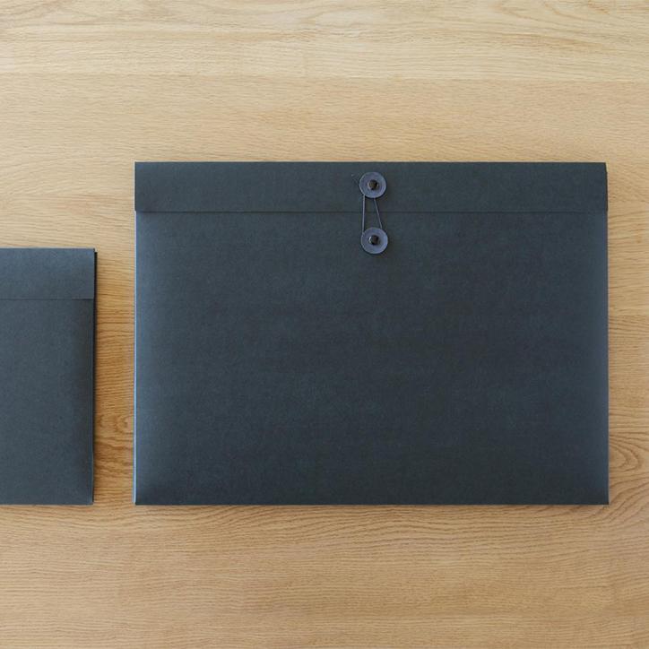 ドキュメントケース A3 SML エスエムエル ブラック 10個セット 【 ファイルケース 黒 図面 資料ケース プレゼン資料 作品 収納 】