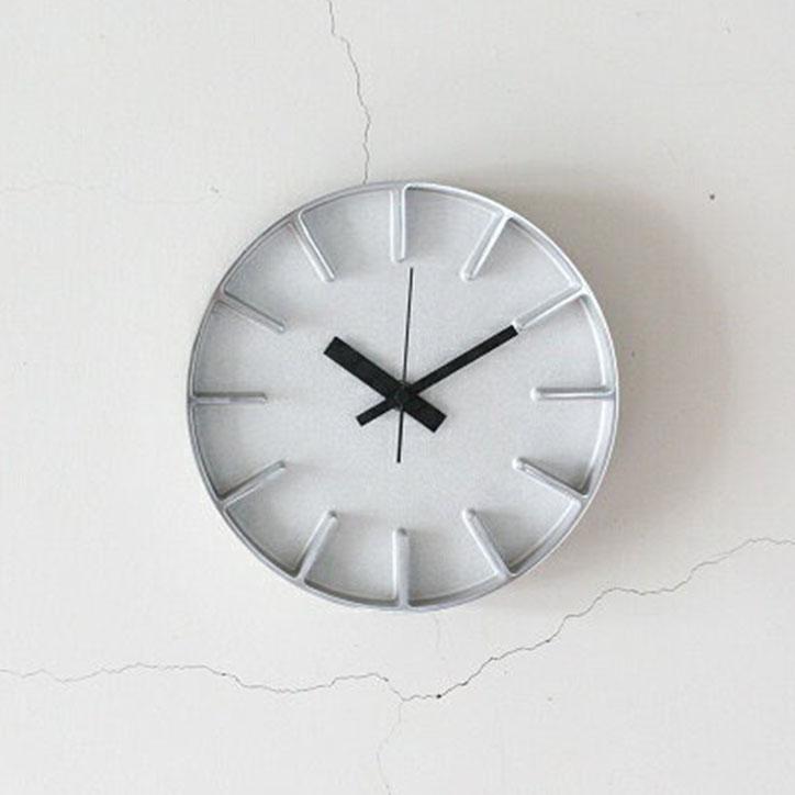 【 送料無料 】 【Lemnos レムノス】edge clock エッジクロック Sサイズ アルミニウム【AZ-0116 AL/AZUMI/掛け時計/ウォールクロック/デザイナーズクロック/アルミニウム/鋳物】