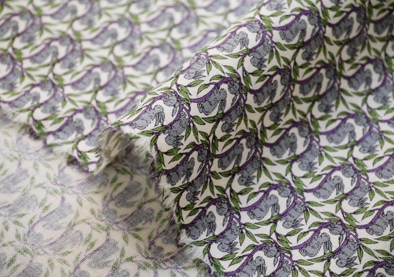 自由打印谢谢你另一个注意自由亚麻棉片材织物 < 棉花尾巴 > (野兔) 3332262S J13C