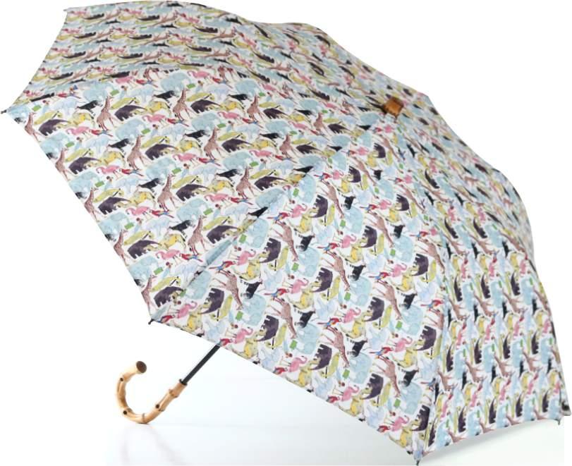 LIBERTYリバティプリントを使った晴雨兼用折り畳み傘パラソル(日傘)<Queue for the Zoo>(キューフォーザズー)MUマルチカラー 970925