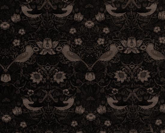 Moda Fabrics モダ William Morris ウィリアムモリスシーチング Cloth Lt Strawberry Thief Gt