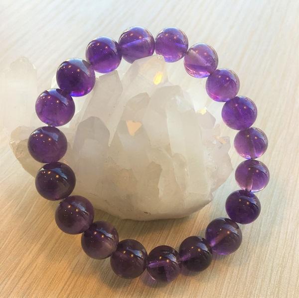 パワーストーン ブレスレット【天然石】アメジスト 紫水晶 2月誕生石 10mm【あす楽対応】