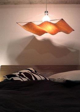 オンダウッド ペンダントランプ  1灯 ONDA WOOD pendant lamp ディクラッセ DI CLASSE デザイン 照明器具【送料無料】