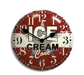 時計 壁掛け おしゃれ 北欧 アンティーク ウォールクロック アイスクリームアドバタイジングクロック NEW GATE ニューゲート 壁掛け時計 TR-4285 時計 掛け時計 書斎 デザイナー シンプル 男前 インテリア 【送料無料】