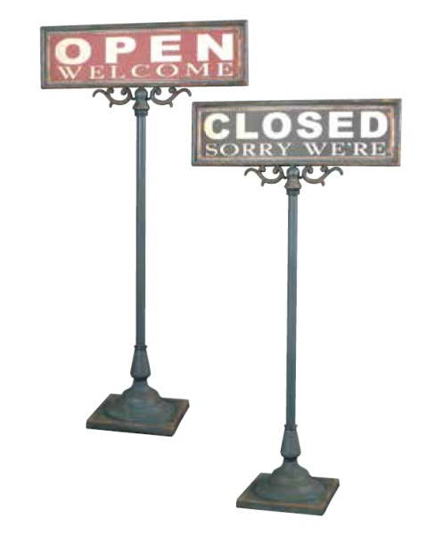 【DULTON】 ダルトン オープンクローズサインスタンド OPEN-CLOSED SIGN STAND S355-83 【送料無料】