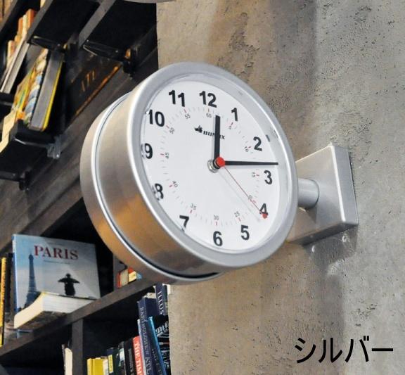 DULTON ダルトン ダブルフェイスクロック シルバー ブラック アイボリー DOUBLE FACE CLOCK 170D 時計 壁掛け 掛け時計 掛時計 S624-659 【送料無料】