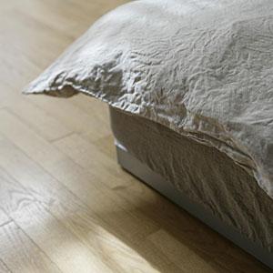 fog linen work フォグリネンワーク リネンボックスシーツ/シングル(ナチュラル/ホワイト)【送料無料】