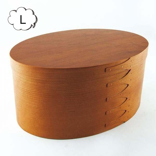 シェーカー オーバルボックス L アクシス Homestead ホームステッド HS2850 木箱 アンティーク風 裁縫箱1段 裁縫箱 ソーイングボックス【送料無料】