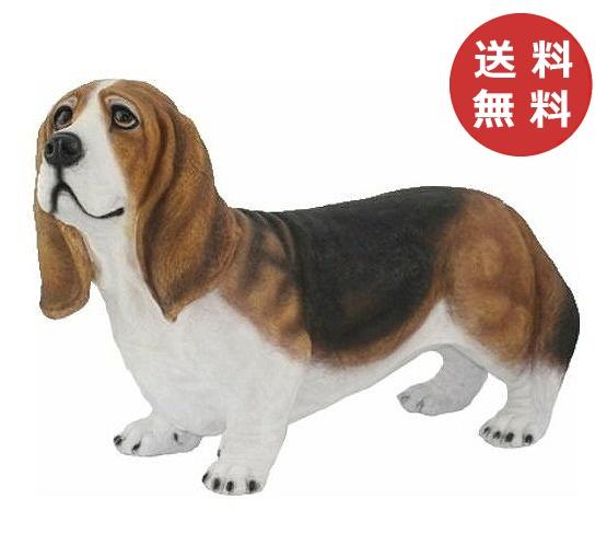 チアフルフレンズ バセットハウンドのチャールズ 犬 いぬ イヌ dog ドッグ ドック 置物 小物 オブジェ ガーデンオーナメント ガーデン 置物 オーナメント かわいい リアルで可愛い【送料無料】