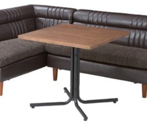 ダリオ カフェテーブル 75cm幅 おしゃれ テーブル ダイニングテーブル リビングテーブル 木製 スチール シンプル インテリア【送料無料】