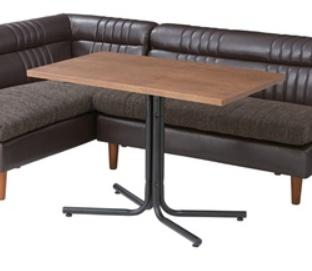 ダリオ カフェテーブル 100cm幅 おしゃれ テーブル ダイニングテーブル リビングテーブル 木製 スチール シンプル インテリア【送料無料】