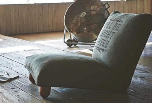 フロアチェア グリーン ベージュ ブルー おしゃれ シンプル ソファ 座椅子 リクライニング インテリア 家具【送料無料】