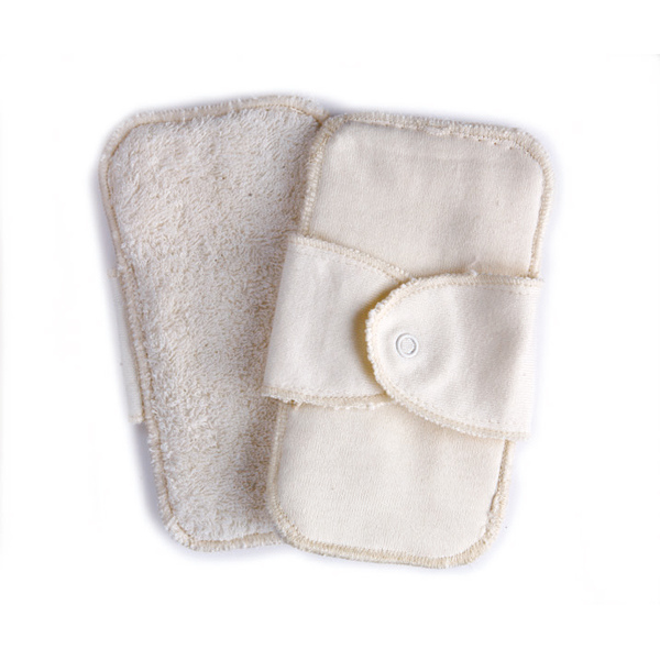 洗って繰り返し使用できるので環境にもやさしいオーガニックコットン100%のパッドです ecololo オーガニックコットン サニタリーパッド [ギフト/プレゼント/ご褒美] 2枚入 新生活 ケア用品 S M犬用品