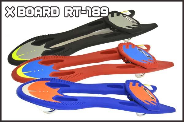 ポイント10倍 【送料無料】 スケートボード スケボー X BOARD RT-189 JDジャパン 子供用 キッズ用 オシャレなデザイン小回りが出来る ギフト プレゼント (代引きOK)
