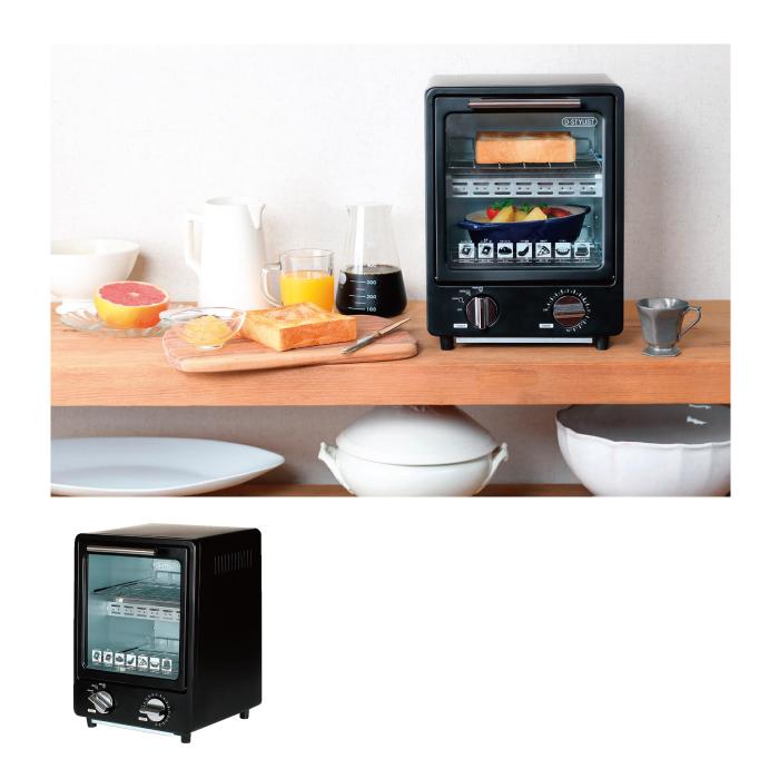 縦型オーブントースター ブラック【粗品・プレゼント・パーティ・誕生日会】【のし・包装不可】