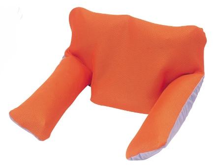 シーポス エルフ(車いす用クッション) 幅42cmx長さ30cmx厚さ10cm オレンジ 1個 MSPEOR モルテン【条件付返品可】