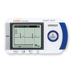携帯心電計 HCG-901 誘導方式 双極1誘導 心拍計数範囲 40~200拍/分 1台 オムロン【条件付返品可】