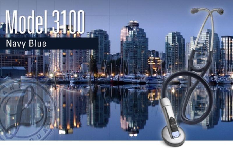 【正規品】 リットマン 聴診器 エレクトロニック 3100NB ネイビーブルー 3M スリーエムヘルスケア 【電子聴診器】【条件付返品可】