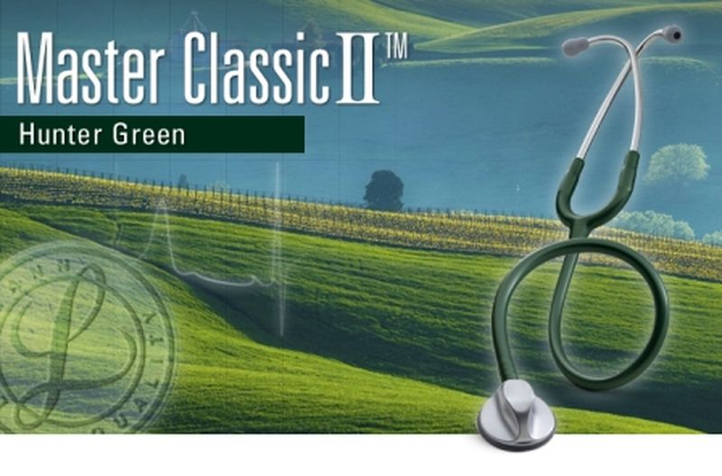 【正規品】 リットマン 聴診器 マスタークラシック2 2632 ハンターグリーン 3M スリーエムヘルスケア【条件付返品可】
