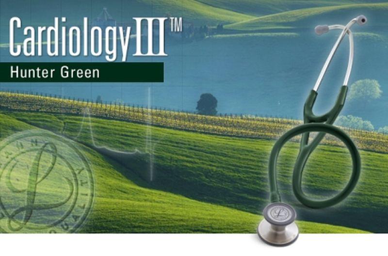 【正規品】【聴診器】リットマン ステソスコープ カーディオロジー3 3134 ハンターグリーン 3M スリーエムヘルスケア【条件付返品可】