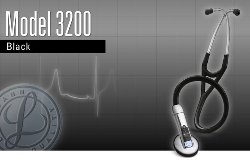 【正規品】 リットマン 聴診器 エレクトロニック 3200BK27 ブラック 3M スリーエムヘルスケア 【電子聴診器】【条件付返品可】