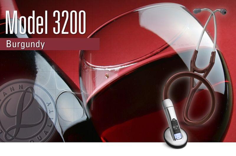 【正規品】 リットマン 聴診器 エレクトロニック 3200BU バーガンディー 3M スリーエムヘルスケア【電子聴診器】【条件付返品可】