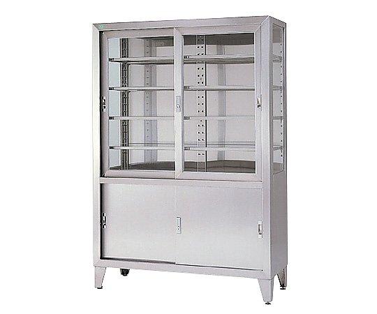 器械戸棚 引違扉 1800x450x1750mm SK-9P-1-4 1台 【大型商品】【同梱不可】【代引不可】【返品不可】