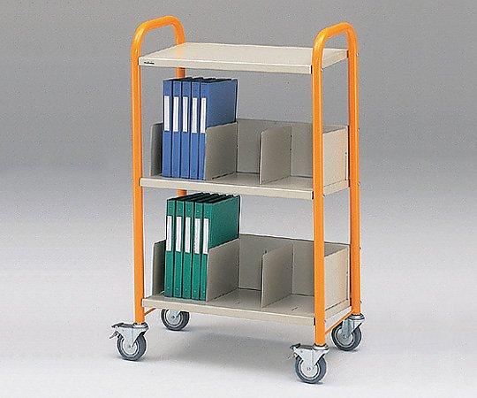 カルテワゴン 筆記台付 664x380x1100mm オレンジ TW-1(オレンジ) 1台【条件付返品可】