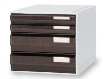 カセッター A3タイプ(引出4段)アンバー HA3-007 1個【条件付返品可】