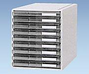 カセッター B4タイプ(引出9段)クリアー HB4-005 1個【条件付返品可】