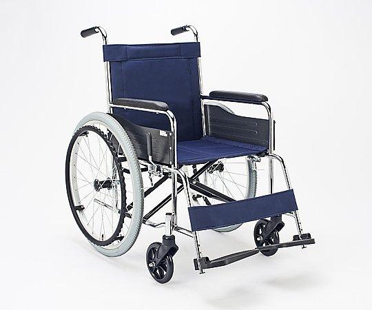 車いす (自走式/スチール製/ナイロンシート) EX-10 1台 【大型商品】【同梱不可】【代引不可】【キャンセル・返品不可】