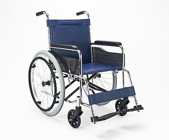 車いす (自走式/スチール製/ビニールレザーシート) EX-10B 1台 【大型商品】【同梱不可】【代引不可】【キャンセル・返品不可】