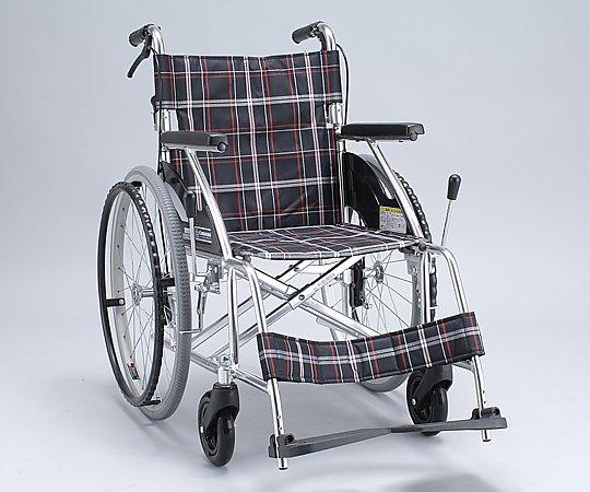車椅子 (自走式/アルミ製/背折れタイプ/ノーパンクタイヤ) NKV22-40SB 1台 【大型商品】【同梱不可】【代引不可】【キャンセル・返品不可】