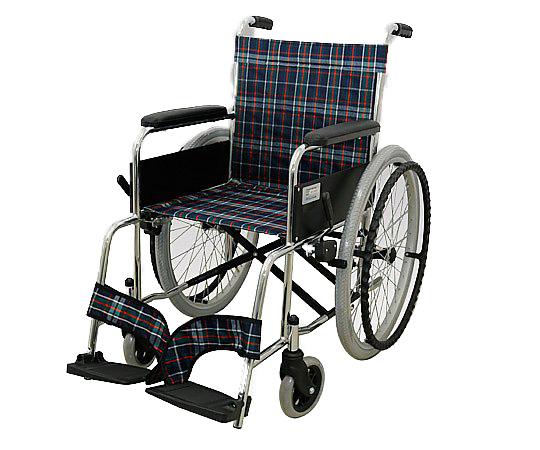 車椅子 (自走式/スチール製/背面ポケット付き) MW-22ST-CNV 1台 【大型商品】【同梱不可】【代引不可】【キャンセル・返品不可】