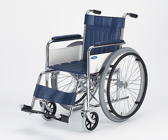 車椅子 (自走式/スチール製/ノーパンクタイヤ/スタンダードタイプ) AND-1H 1台 【大型商品】【同梱不可】【代引不可】【キャンセル・返品不可】