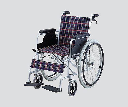 車椅子 (自走式/アルミ製/介助ブレーキ付き) NWC-100AL 1台 【大型商品】【同梱不可】【代引不可】【キャンセル・返品不可】