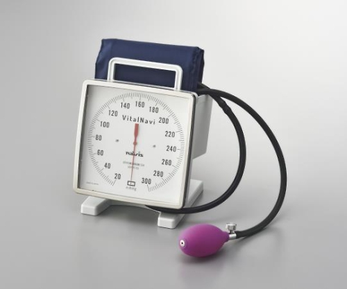 バイタルナビ大型アネロイド血圧計 卓上・携帯型 No.543NAVIS 1個 ナビス アズワン【条件付返品可】