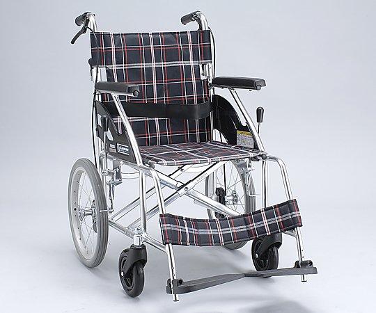 車椅子 (介助式/アルミ製/背折れタイプ/ノーパンクタイヤ) NKV16-40SB 1台 【大型商品】【同梱不可】【代引不可】【キャンセル・返品不可】