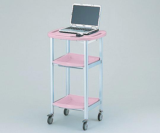 パソコン処置カート 固定式 ピンク AO-KT-P 1個 【大型商品】【同梱不可】【代引不可】【キャンセル・返品不可】