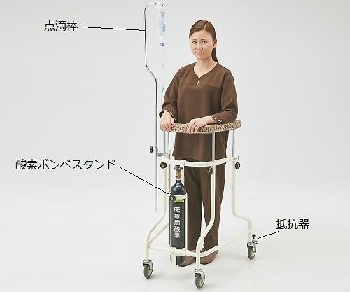 らくらくあるくん(R)(ネスティング歩行器)用 酸素ボンベ架 Rkun-O2 1個【条件付返品可】