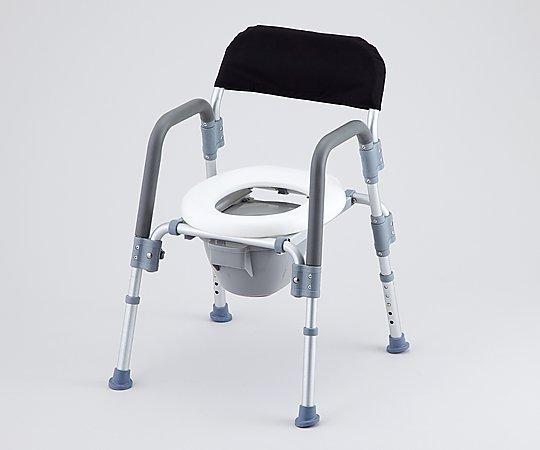 コンフォートトイレ椅子(折りたたみ式) 背付き HT2098 1台【キャンセル・返品不可】