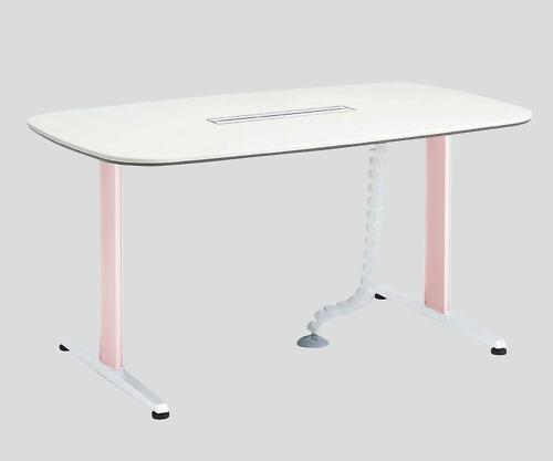ナーステーブル(リフティオメディカ) 1800x1000x900 ピンク LG51AB-ZD31 1個【条件付返品可】