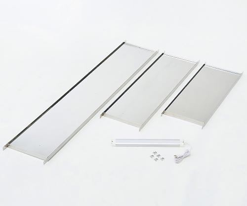 点滴作業台オプション(LEDライト付きステンレス棚板) 本体W1800用 1580x300x30 1個【条件付返品可】