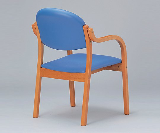 木製椅子(ビニールレザー張りタイプ) 角背 グリーン MW-310 (VG1)PGN 1個【条件付返品可】