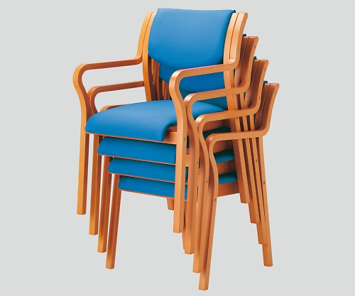 木製椅子(ビニールレザー張りタイプ) 角背 ブルー MW-310 (VG1)PBU 1個【条件付返品可】