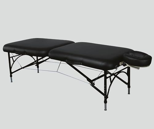 折りたたみベッド ブラック 70x182x52~66 Q28BK 1個 【大型商品】【同梱不可】【代引不可】【キャンセル・返品不可】